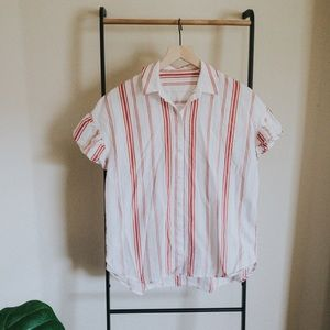 Madewell Button Down Top with Ruffle Sleeves